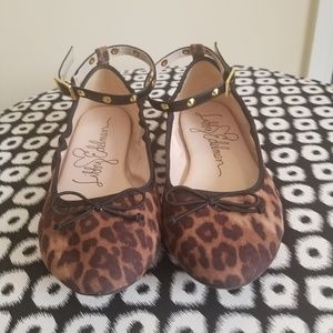 Libby Edelman Leopard Cheetah Ballet Flats 9